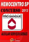 Apostila Concurso Hemocentro SP2013 Auxiliar Servicos Gerais