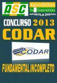 Apostila Concurso Codar PR Fundamental Incompleto