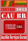 Apostila Concurso CAU BR Auxiliar Servicos Gerais
