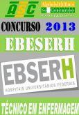 Apostila Concurso EBESERH HUUFMA Tecnico Enfermagem