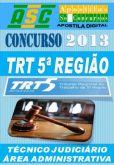 Apostila Concurso TRT BA 5 Tecnico Judiciario Area Adm