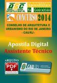 Apostila Concurso Cau RJ 2014 Assistente Tecnico